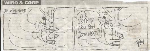 Windhond cartoon